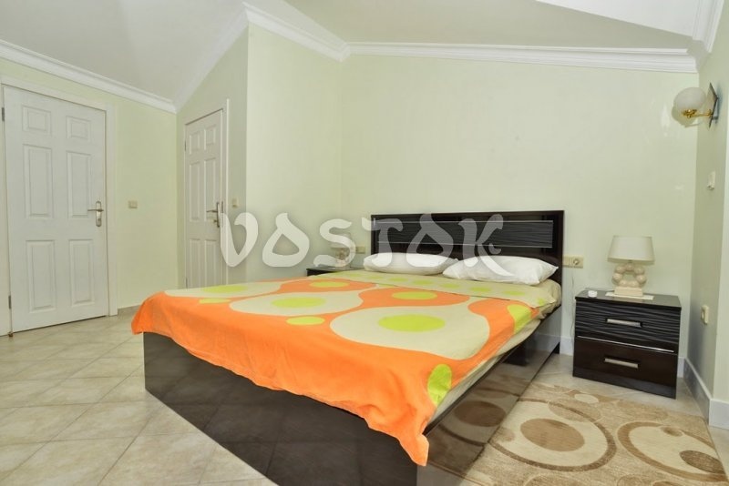Attic floor double bed bedroom - Seaside Villa in Calis Beach