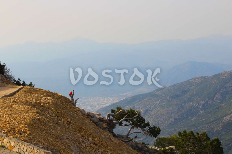 View to Fethiye from Babadag Mountain Turkey