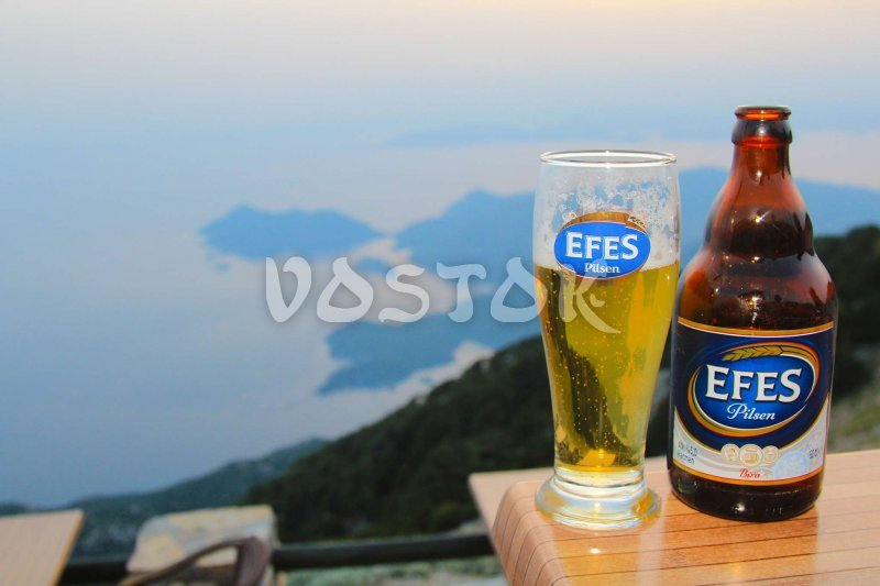 It is Turkey baby so here are no places without our old good Efes - Babadag Restaurant Turkey
