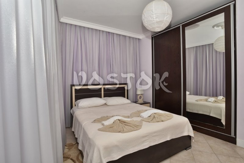 Double bed bedroom -Seaside Villa in Calis Beach