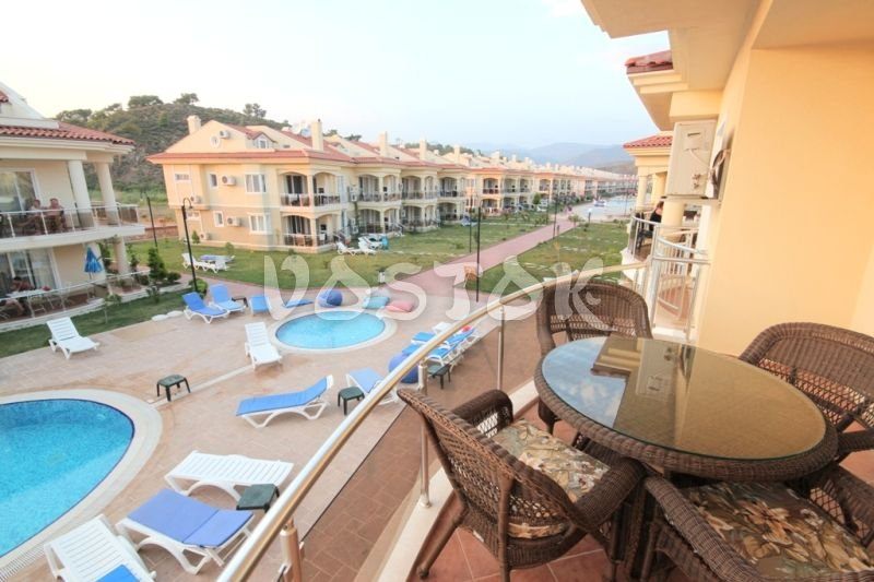 Balcony view - Sunset Poseidon Apartments in Calis Fethiye