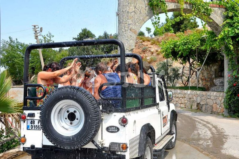 Pretty hot outside so shower will not be odd during Fethiye Jeep Safari