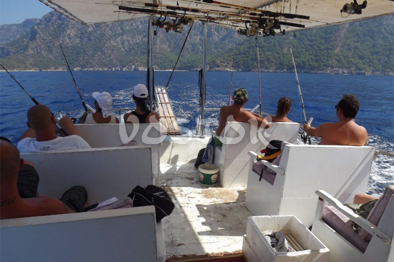 Fishing in Oludeniz Turkey