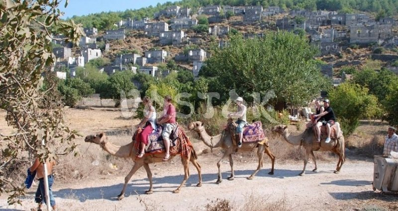 Turkey camel rides in the village of Kayakoy