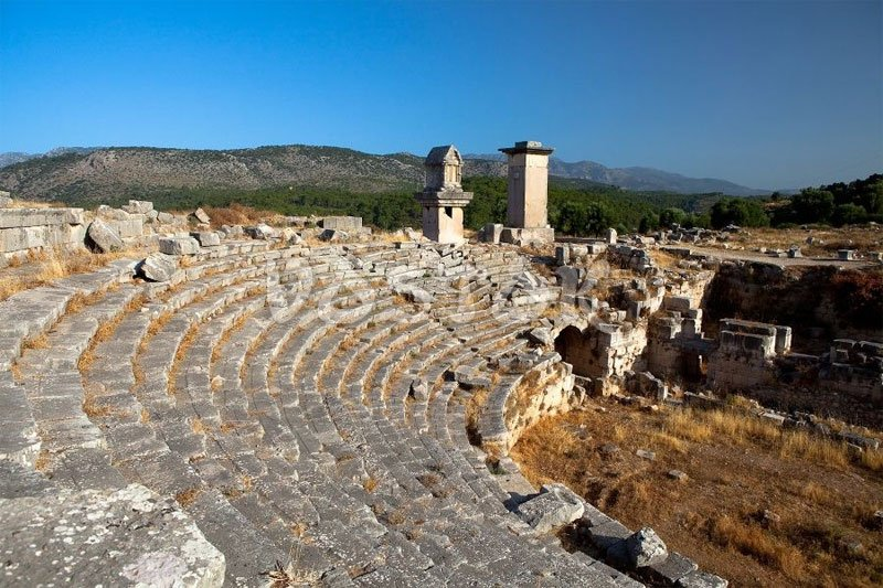 Roman theater in Xanthos Fethiye