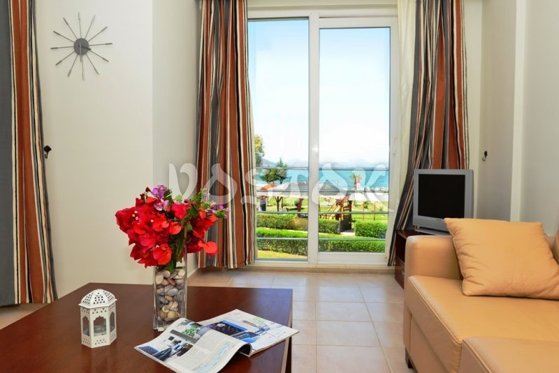 View to the Calis Beach - Saros Apartments in Calis Fethiye