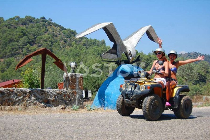 On the way from Kayakoy to Gemiler - Quad Bike Safari from Oludeniz