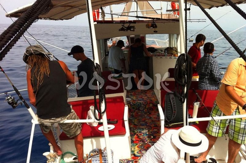 Fishing boat is fully equipped - Fishing in Oludeniz Turkey
