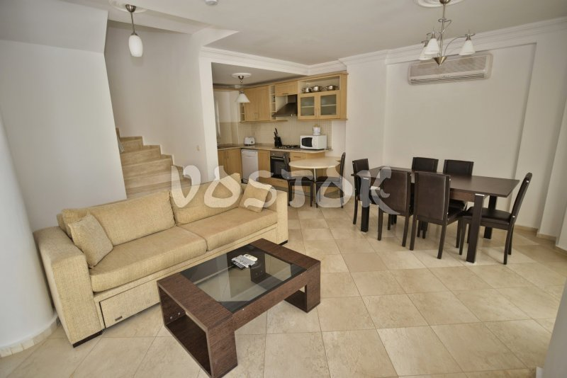 Open plan living room and kitchen - #1 Sunset Beach Pearl Villa in Calis