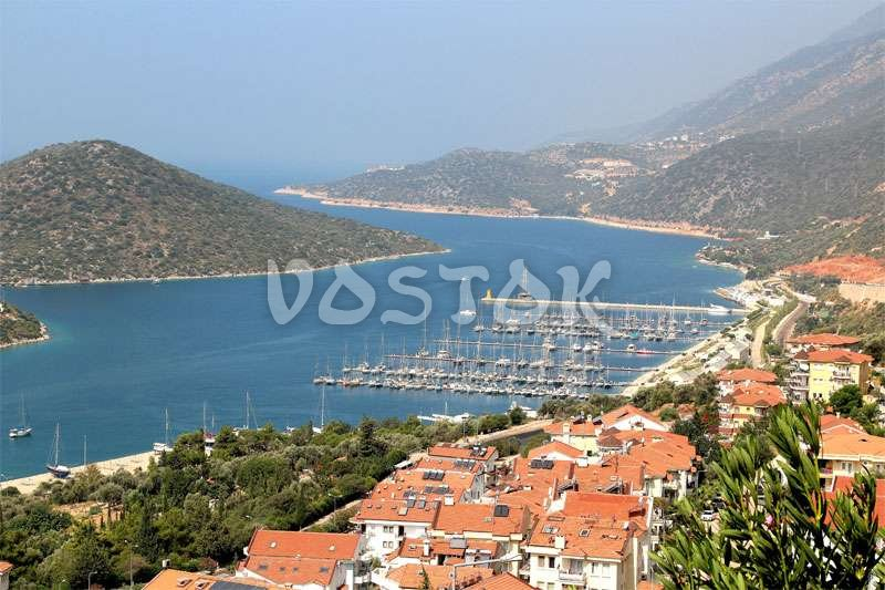 View to Kalkan city and marina - Guided tour from Oludeniz Hisaronu Fethiye to Kas Kalkan Myra Kekova