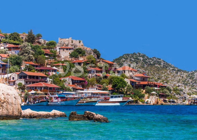 View to Kekova island - Fethiye to Kas Tour