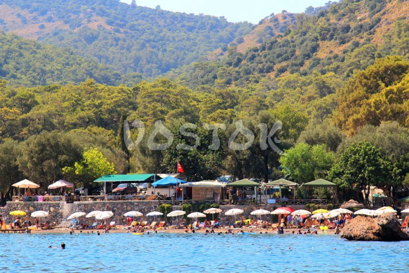 View from the speed boat to Gemiler beach - Speed Boat Hire Oludeniz