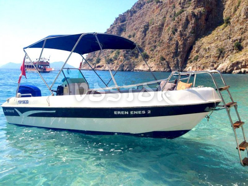All our speed boats are equipped with sunshades - Oludeniz Speed Boat Hire