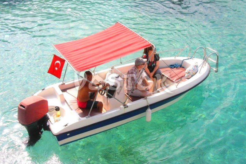 Speed boat hire from Oludeniz is available with captain