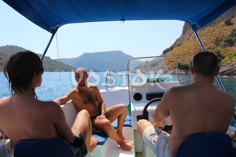 View from the stern - Speed Boat Hire Oludeniz