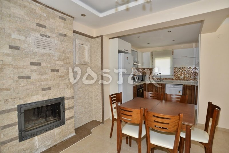 Fireplace on ground floor - Talia Villa in Calis Fethiye