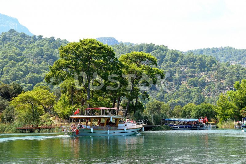 Boat is going from Dalyan to Iztuzu beach - Dalyan Turtle Beach