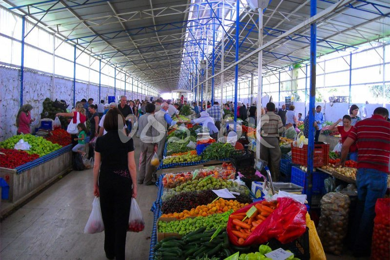 Covered part of Tuesday Fethiye market