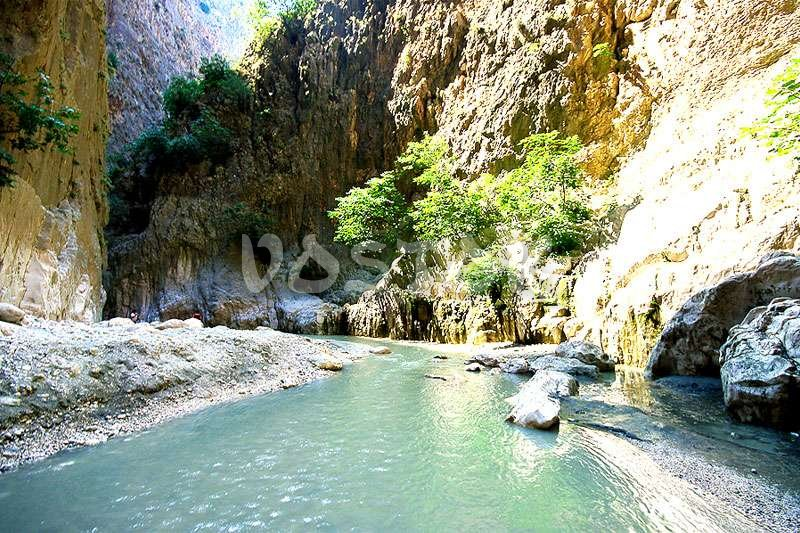 Freezing cold river in Saklikent canyon
