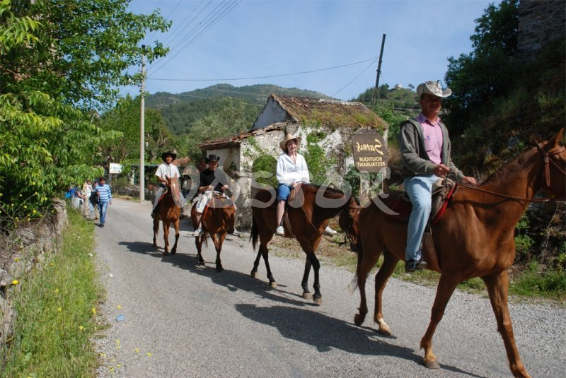 Riding horses along the Kayakoy village