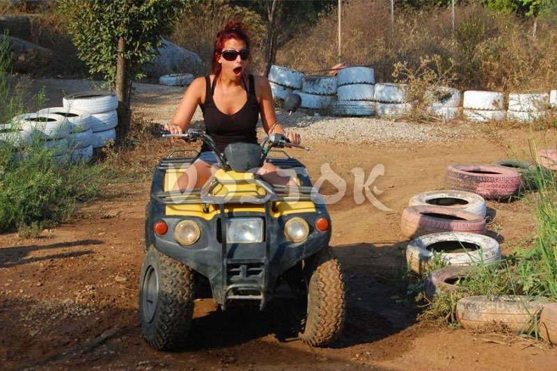 Quad bike brief course before safari - Quad Bike Safari in Fethiye