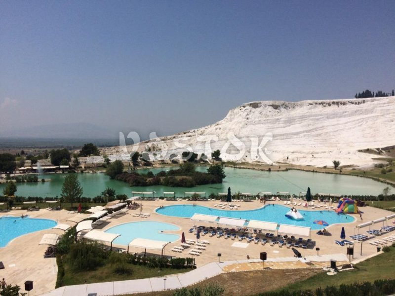Lake by the Pamukkale slope