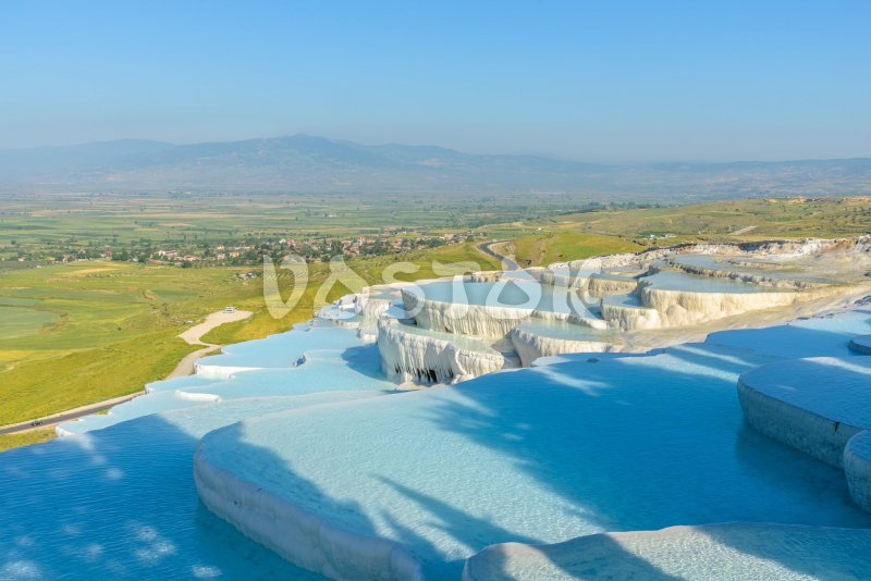 Blue and green is a great combination of colors in Pamukkale