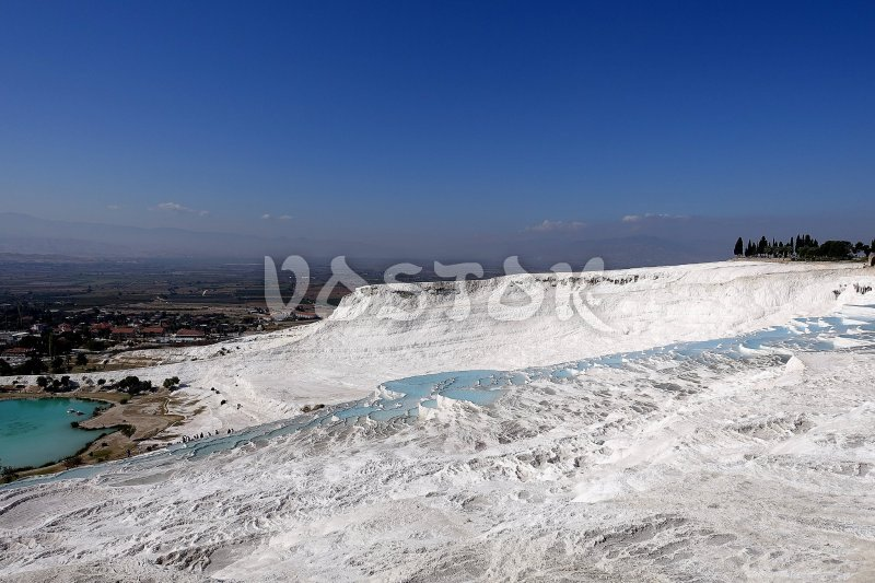 It really looks like snow white ski resort - Pamukkale and Hierapolis Tour