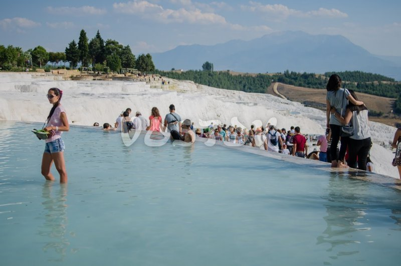 Pamukkale Cotton Castle is very popular among tourists from all over the world