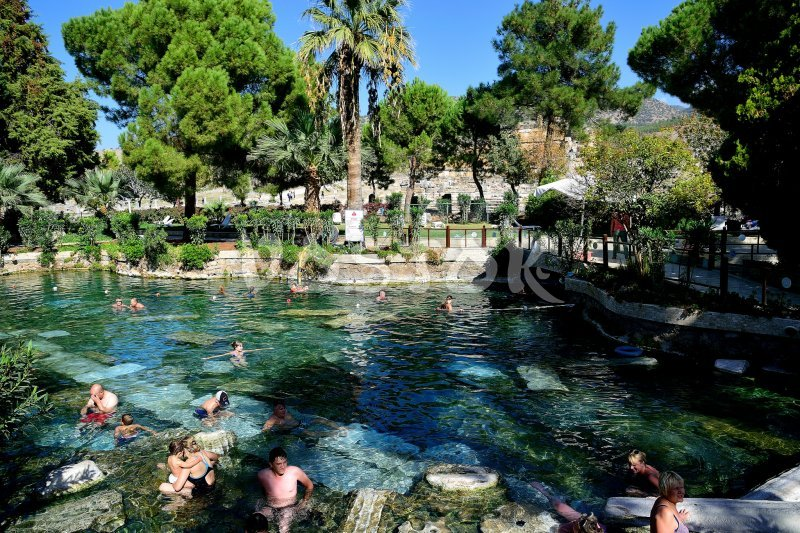 Cleopatra pool in Pamukkale is great place to have fun