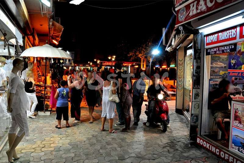 Famous bar street in Marmaris