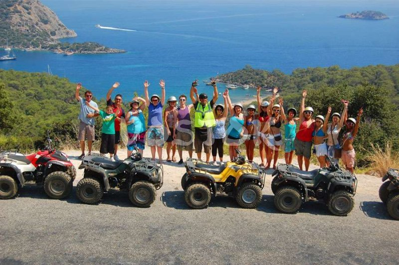 The Gemiler Bay and St. Nicholas Island view - Quad Bike Safari in Fethiye