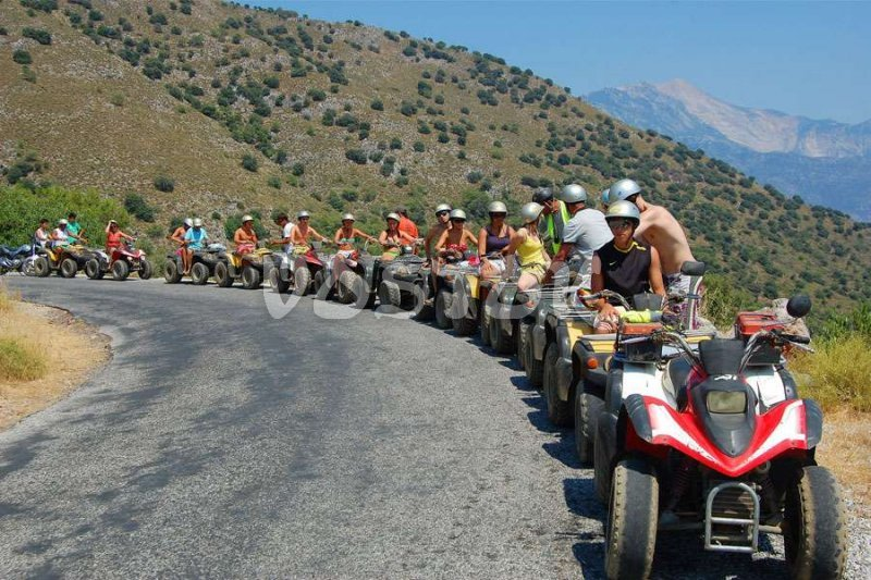 Quad bike safari break before descent to Gemiler Bay -  - Quad Bike Safari from Hisaronu