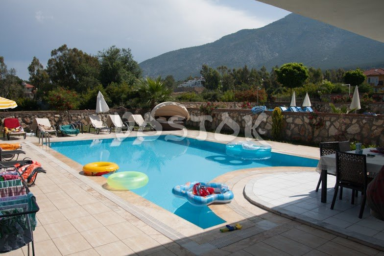 Large private pool with sunbeds - Orka Valley Villa #1