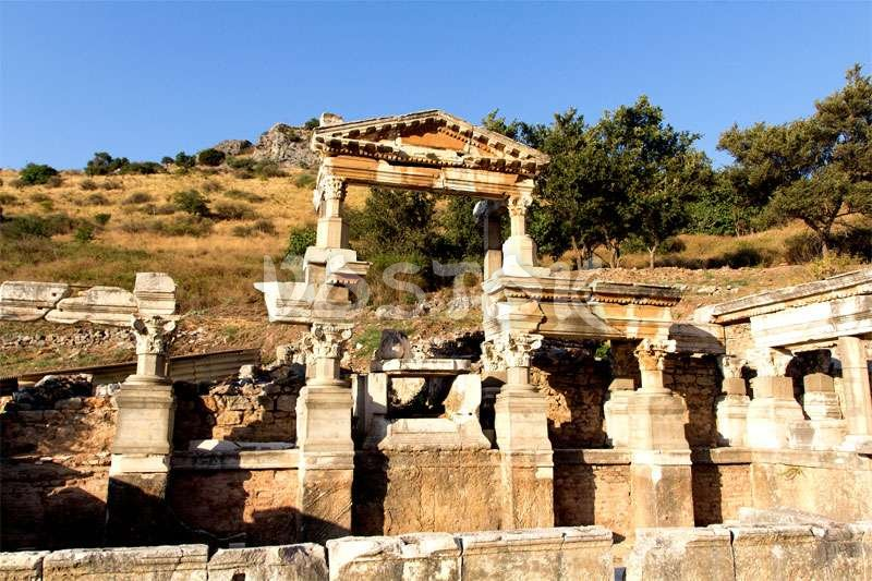 Ruins of ancient city Ephesus