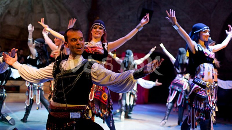 Bright Turkish folk dances - Turkish Night Hisaronu
