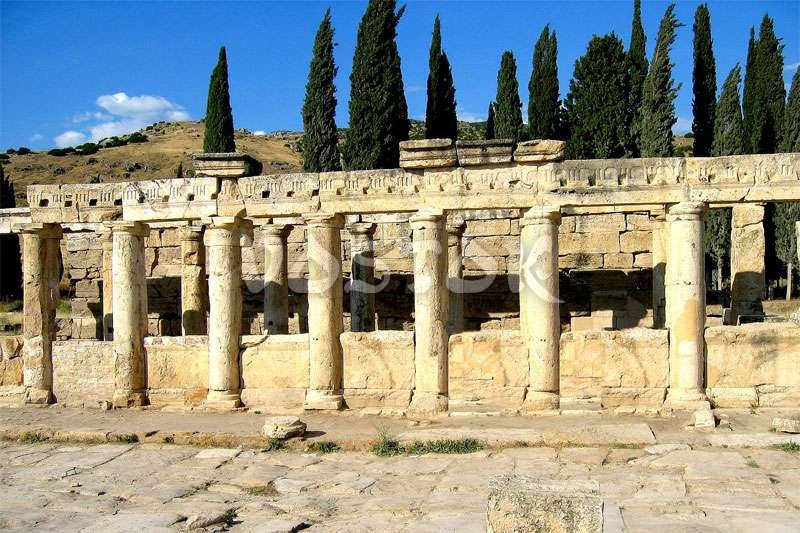Ruins at the main street of Hierapolis