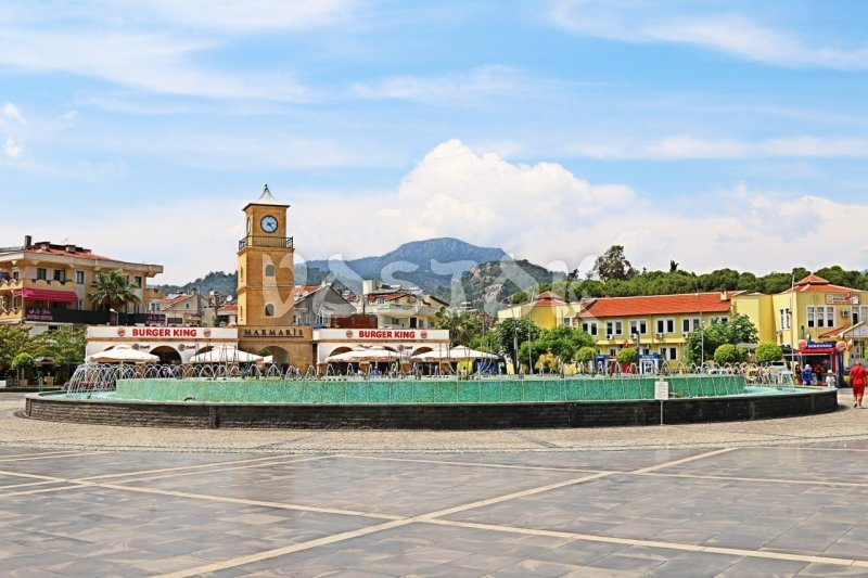 Fountain in the central square of Marmaris