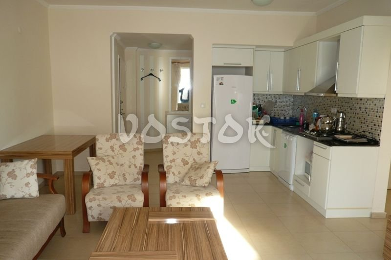 Open plan kitchen is fully equipped with utensils - Blue Green Apartments Calis Beach