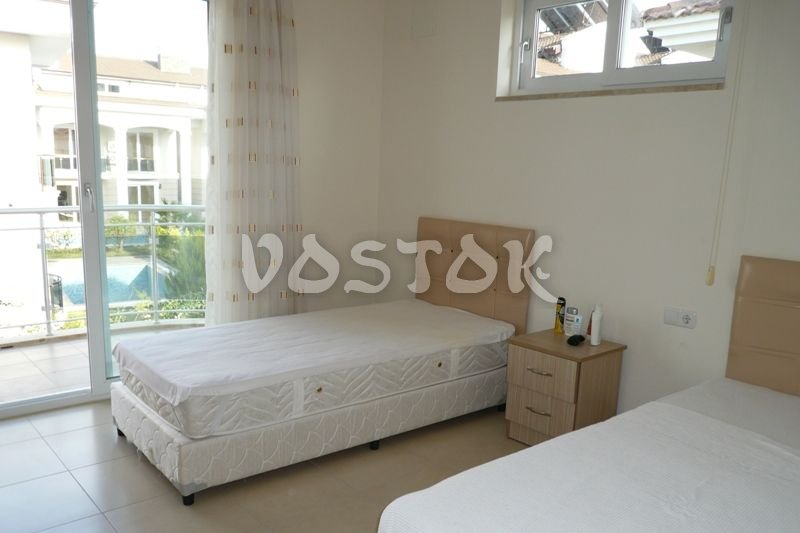 Bedroom with twin beds - Blue Green Apartments Calis Beach