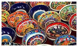 Shopping in Fethiye for Turkish ceramics