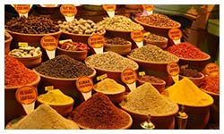 Shopping in Fethiye for Turkish spices